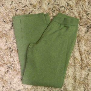 "Hanes Soft Sweat Pants Flat Waist Green Small 32"""